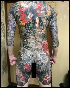 Love classic tattoo by 👹 Japanese Dragon Tattoos, Japanese Tattoo Art, Japanese Sleeve Tattoos, Best Sleeve Tattoos, Face Tattoos, Body Art Tattoos, Girl Tattoos, Asian Tattoos, Backpiece Tattoo