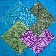 Card Trick, batik quilt