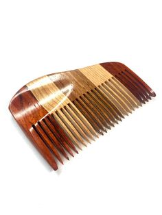 Exotic Wooden Beard Comb or Pick Padouk Jatoba by ConwayCraftings