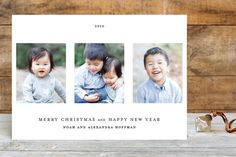 Date Stamp Christmas Photo Cards