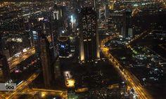 DUBAI - Pinned by Mak Khalaf Travel architecturecitycityscapelightslong exposurenight by home-of-the-beauties