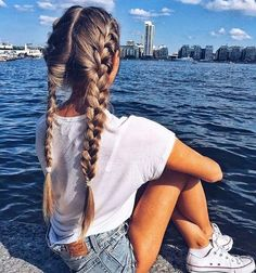 Popular afro hairstyles for woman – My hair and beauty French Braid Hairstyles, Afro Hairstyles, Pretty Hairstyles, Hairstyle Ideas, Black Hairstyles, French Braid Pigtails, Teenage Hairstyles, Hairstyles Pictures, Summer Hairstyles