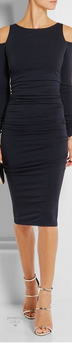 DONNA KARAN NEW YORK Cutout Stretch Jersey Dress   LOLO❤︎