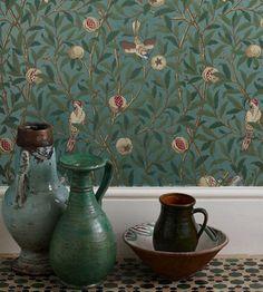 Bird & Pomegranate Wallpaper by Morris & Co | Jane Clayton