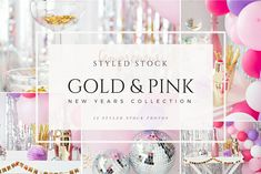 Pink New Years Party Stock Photos by Fempreneur Styled Stock on @creativemarket