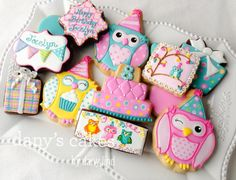 Birthday Owls by Dany's Cakes | Cookie Connection