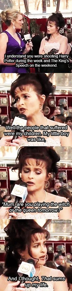 Helena Bonham Carter at the 2011 SAG Awards...she is bloody brilliant!