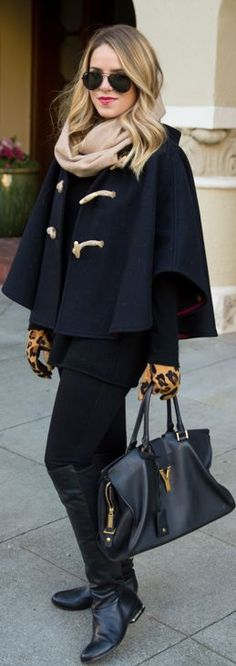 #Winter #Cape by Gal Meets Glam => Click to see what she wears