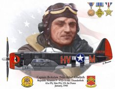 "P-47D Captain Boreslaw ""Mike Killer"" Cladych 1945 Ww2 Aircraft, Fighter Aircraft, Military Aircraft, Air Fighter, Fighter Pilot, Nose Art, Photo Avion, P 47 Thunderbolt, American Fighter"