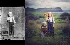 And what to say about her Dancing with Costica series? Stunning ! Jane Long uses photographs from Romanian photographer Costică Acsinte restores, recolors and transforms them!