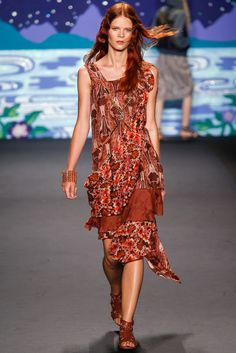 Anna Sui Spring 2014 Ready-to-Wear Fashion Show - Irina Kravchenko