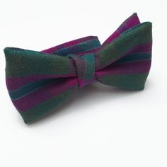 Made in Scotland from the Dunans Rising tartan, this pre-tied bow tie is suitable for formal kiltwear, blacktie events and informal country weekends. Wear with our Dunans Rising Cummerbund and Cufflinks! Black Tie, Tartan, How To Make, How To Wear, Bows, Gifts, Scotland, Cufflinks, Castle