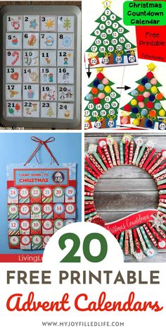 Check out this list of 20 fun AND free printable advent calendars that you can print out and make yourself. Great ideas for counting down to Christmas! #freeprintable #advent #adventcalendar #Christmas #printableadvent Fun Printables For Kids, Craft Activities For Kids, Free Printables, Craft Ideas, Christmas Themes, Holiday Fun, Christmas Crafts, Christmas Decorations, Xmas