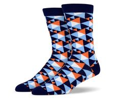 Navy Blue Triangle Socks