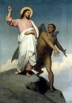 The Temptation of Christ / La Tentation du Christ // 1849-1854 // Ary Scheffer // Musée du Louvre // #Jesus