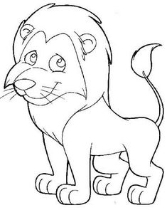 Lion Coloring Pages Easy Check More At Coloringareas 2588