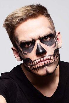 Pretty Zombie Makeup, Zombie Makeup Easy, Zombie Makeup Tutorials, Scary Makeup, Clown Makeup, Sfx Makeup, Male Zombie Makeup, Halloween Zombie, Halloween Skeleton Makeup