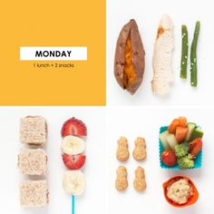 1 Lunch + 2 Snacks 36 | LunchingDaily.com Healthy & fun lunch and snack ideas for kids and their families. #heathysnackideas #healthylunchideas #kids #families