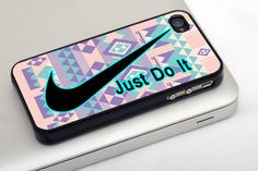 Nike Just Do It Pink Aztec Pattern for iphone 4/4s case, iphone 5/5s/5c case, iphone 6/6  case, samsung galaxy s3/s4/s5 case