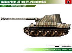 Waffenträger für 12.8cm K43