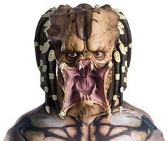 Rubies Deluxe Predator Latex Adult Mask- -- You can find out more details at the link of the image. (This is an affiliate link) Mens Christmas Costumes, Villain Mask, Purge Mask, Trendy Halloween, Unique Costumes, Skull Mask, Animal Masks, Masquerade Party, Halloween Accessories