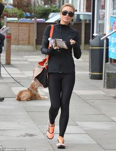 Alex Gerrard displays her toned physique in black leggings and tight hoodie | Daily Mail Online