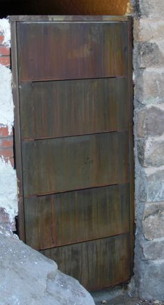 puerta Corten Corten Steel, Shed, Staircases, Home Decor, Sew, Doors, Architecture, Country, Decoration Home