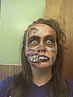 Halloween Makeup, Zombie.