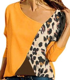 Blouse Jaune, Plus Size Casual, T Shirts For Women, Clothes For Women, Casual T Shirts, Cotton Sweater, Look Fashion, Fashion Mode, Models