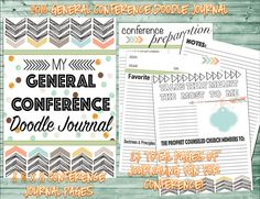 2016 General Conference doodle journal - study kit - packets. Great Price!! Purchase at amysbasketdesigns.etsy.com