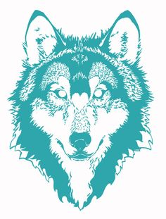 Wolf Graphic Wildlife Charity Original by BrianPaulCrawfordART