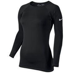 Nike Pro Hyperwarm Crew II - Women's - Training - Clothing - Black/White $49.99