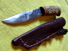 Lapland puukoo knife by RUNICforge on Etsy
