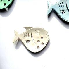 White fish Ceramic Soap Dish Fish Soap Dish by TheBabyHandprintCo