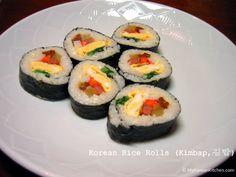 Korean Rice Rolls - Vegetable Kimbap