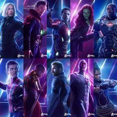 Avengers Assemble in an all new set of character posters.