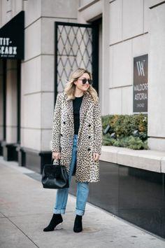 Winter Coat + Statement Booties   bows & sequins