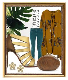"""""""Tropical"""" by queenofsienna ❤ liked on Polyvore featuring Just Cavalli, Christian Louboutin, Malini Murjani and oversizedflorals"""