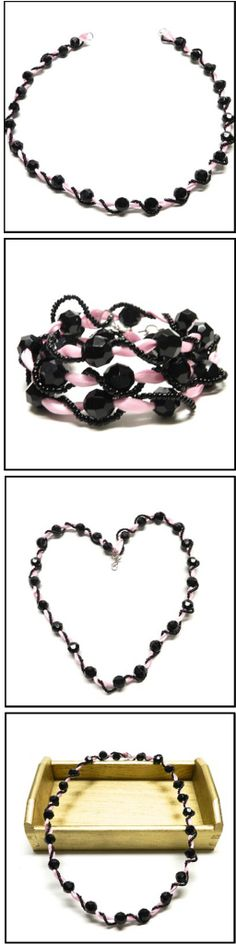 Ribbon Jewelry is so fashionable.  Add wire and seed beads to really make it unique and stand out! via @Bowdabra @BowdabraBlog.com Blog tutorial by @Sarah Chintomby Forhan