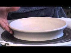 Ceramic Arts Daily – How to Throw a Plate With Some Moves on the Pottery Wheel Clay Plates, Ceramic Plates, Ceramic Pottery, Pottery Lessons, Pottery Classes, Ceramic Techniques, Pottery Techniques, Pottery Tools, Pottery Wheel