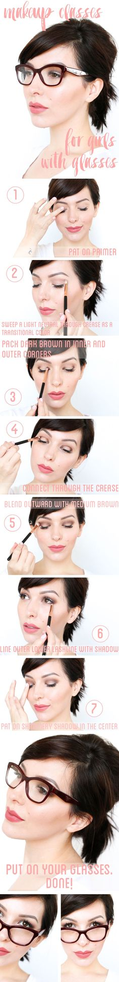 """As a girl who wears glasses and loves makeup, I'm often asked for tips on how to make your eyes stand out behind thicker frames. I'm a firm believer in the """"just add glasses"""" method of makeup applicat"""