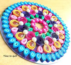 Papered Disc-O  Quilled CD decor by Time2Quill on Etsy