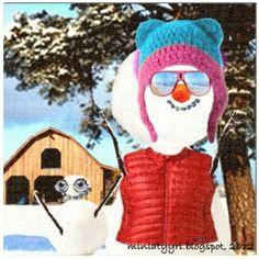 Lumiukkomontaasi - Snowman montage | Miniatyyria