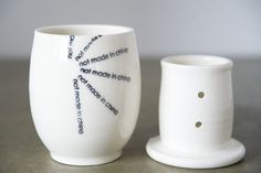by Hugo Didier / Not Made in China! Custom Framing, Framed Art, Mugs, Quebec, Tableware, How To Make, Butter, China, Design