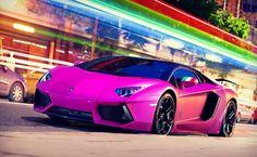 Purple Lamborghini Cars HD Wallpaper