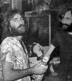 Dennis Wilson (of Beach Boy fame) and Charles Manson..Charles manson was a musician who often hung out with the beach boys.