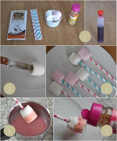 Instructions sucettes guimauve chocolat