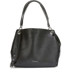 97d2184431c9 Calvin Klein Reversible Faux Leather Hobo Bag (455 BRL) ❤ liked on Polyvore  featuring bags