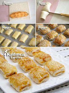 Patatesli Milföy Böreği Tarifi Turkish Recipes, Ethnic Recipes, Homemade Beauty Products, Pastry Recipes, No Carb Diets, Hot Dog Buns, French Toast, Bakery, Brunch