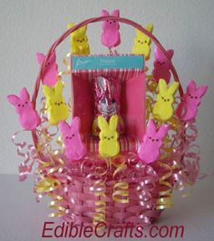 Easter basket ideas - DIY Candy Arrangement